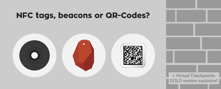 Checkpoint Comparison: QR-codes, NFC tags or Beacons?