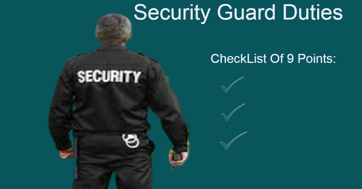 Security Guard Duties