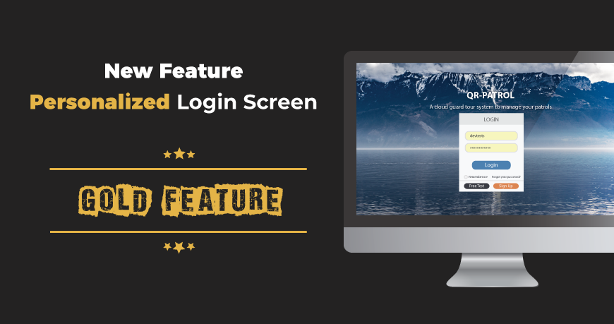 New feature added: Personalized login screen!